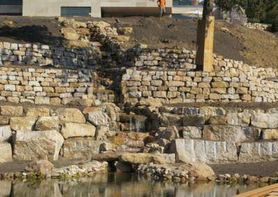 Budai Kertcentrum kertépítés - patak 2