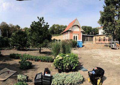Nagy kert építési munka Budai Kertcentrum